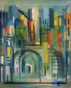 05,10,Via della Sapienza, Öl,K,H,42x52cm, available, 2018