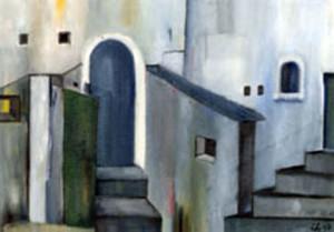 11, Treppenmalerei, Pb, 1999
