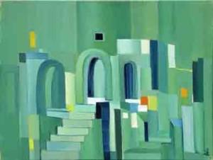 22, Grünes Treppenbild, fw,2