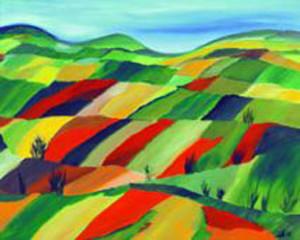 23, Neunte Landschaft mit vereinzelten Büschen, Pb, 1999