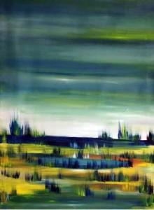 25, Landschaft mit Teich, fw,4,
