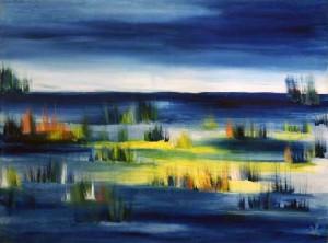 29, Landschaft mit blauen Feldern, fw,4,