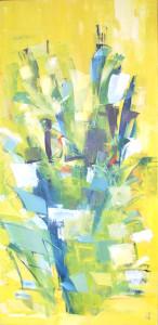 12, Blätterformation auf Gelb, klkpl, 2004