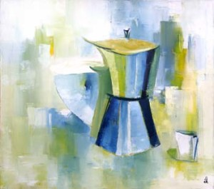 53, Stillleben mit Espressokanne, fw,3