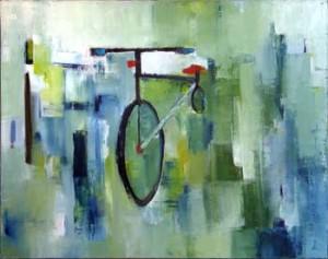 59, Fahrrad mit rotem Sattel, fw,3