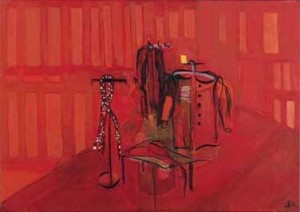 02,GarderobeMitRotenDamenkleidern,fv,2001