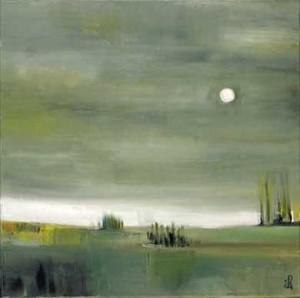 27, Landschaft bei Vollmond, fv, 2001