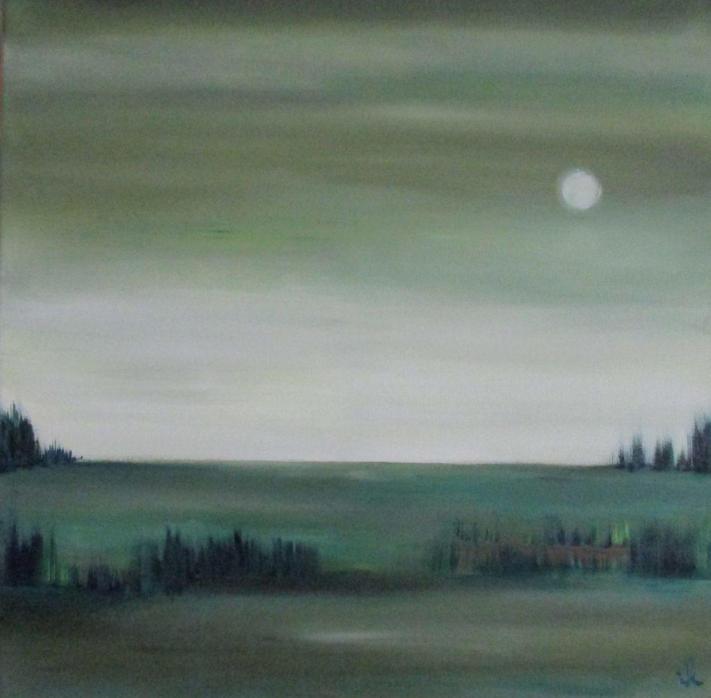 Landschaft, Mond