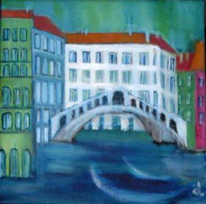 Venedig,Quadrat,Oel,Lw,40x40
