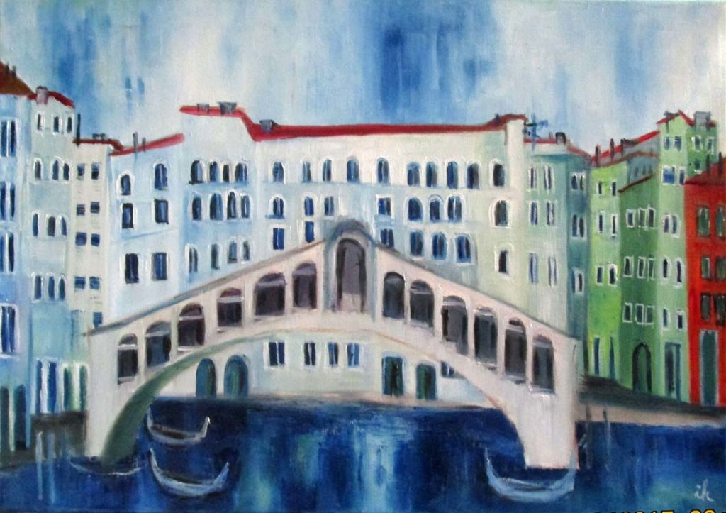 Venedig,Rialto,2017,50x70