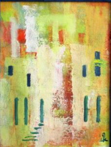 Fassade,gelb,rot,OelLw,18x24,2018