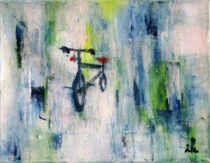 Fahrrad auf Weiss,Oel,Lw,23x28_1756,2018