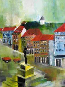 Grazer Hauptplatz,Oel,Lw,60x80