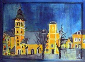 Leonhardkirche, Öl auf Leinwand, 20 x 30 cm