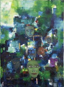 Masken,Oel,Lw,60x80