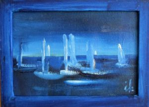 Segelboote,Oel,K,H,12x17,018